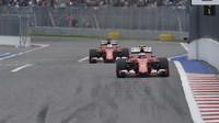 Sebastian Vettel využívá DRS v Soči