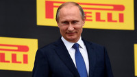 Preziden Ruska Putin na pódiu v Soči