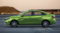Zelená barva slaví u modelů AvtoVAZu premiéru, Lada Vesta.