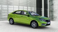 Vesta vypadá dobře i v zeleném laku, Lada Vesta.