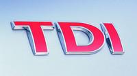 Logo motorů TDI koncernu Volkswagen.