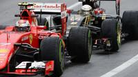 Kimi Räikkönen a Romain Grosjean v Austinu