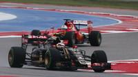 Pastor Maldonado a Sebastian Vettel v Austinu