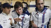 Felipe Massa a Rob Smedley pilují v Austinu závodní strategii