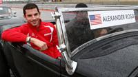 Alexander Rossi při prezentaci před zavodem v Austinu