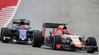 Alexander Rossi a Felipe Nasr v Austinu