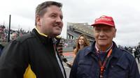 Paul Hembery a Niki Lauda v Austinu