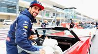 Daniel Ricciardo při prezentaci v Austinu