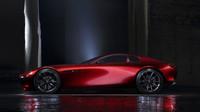 Krátký zadní profil kontrastuje s dlouhou kapotou, Mazda RX-Vision.
