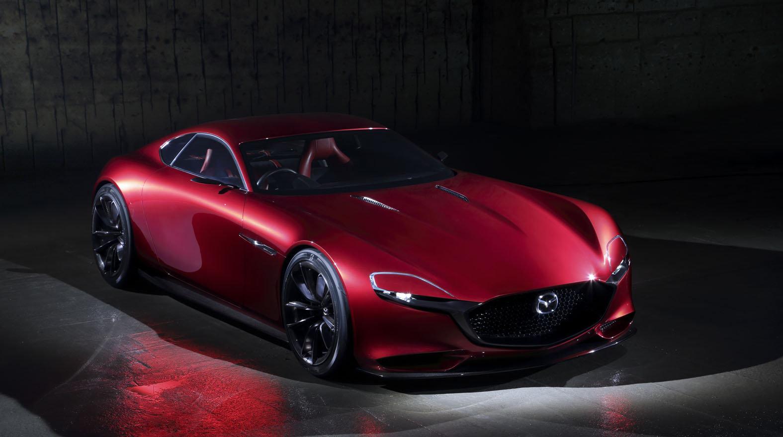 Mazda uchvátila Tokio konceptem dvoumístného kupé s Wankelovým motorem, Mazda RX-Vision.