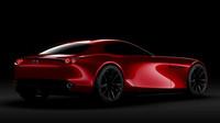 Červená s černými koly vozu nebezpečně sluší, Mazda RX-Vision.