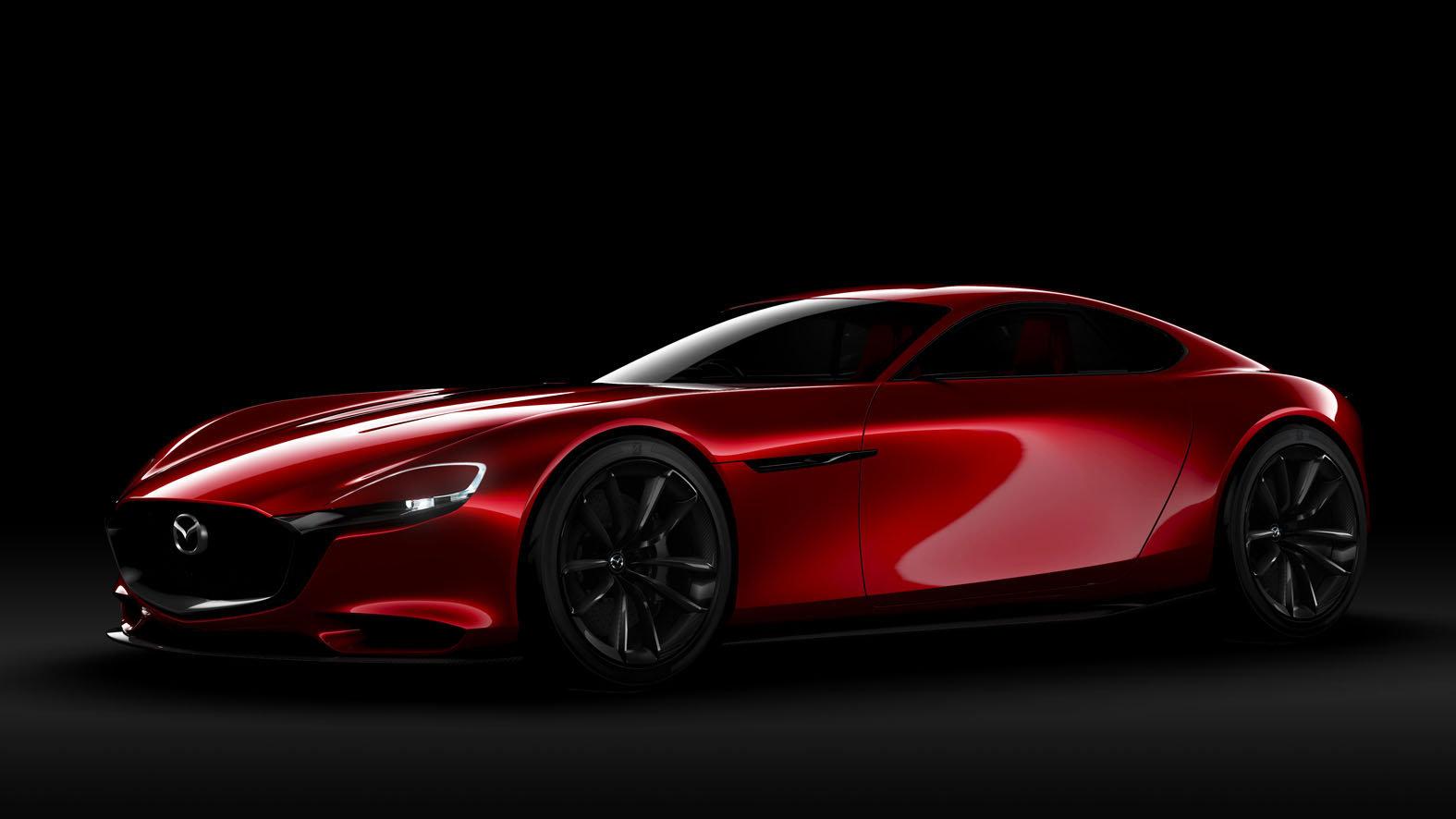 Přední světla jsou protažená až do blatníků, Mazda RX-Vision.