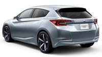 Ostré rysy najdeme i vzadu, Subaru Impreza 5-Door Concept.