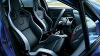 Anatomická sedadla Recaro, čalouněná kůží, Subaru WRX STi S207.
