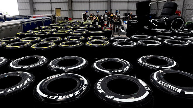 Připrava pneumatik Pirelli