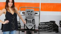 Přední křídlo vozu Force India VJM08 - Mercedes v Mexiku