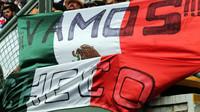 Podpora fanoušků Sergia Péreze v Mexiku