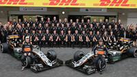 Hromadné foto týmu Force India v Mexiku