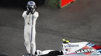 Valtteri Bottas po závodě v Mexiku