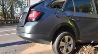 Nehoda - Škoda Fabia Combi versus Superb II. generace