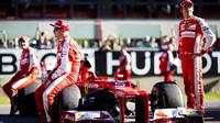Kimi Räikkönen, Sebastian Vettel a Esteba Gutiérrez při Finali Mondiali