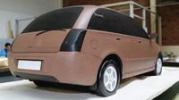 Hliněný model předcházel tomu skutečnému, Lada 2151 Classic.
