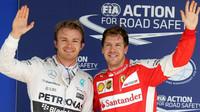 Nico Rosberg a Sebastian Vettel v Brazílii