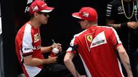 Sebastian Vettel a Kimi Räikkönen v Brazílii