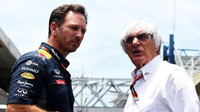 Christian Horner a Bernie Ecclestone v Brazílii