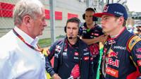 Max Verstappen, Xevi Pujolar a Helmut Marko v Brazílii