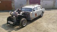 Motor bez kapoty a zkrácené A sloupky, Lada 2106 rat rod.