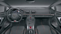 Kabina nešetří drahými materiály, Lamborghini Huracán LP 580-2.