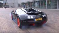 Bugatti Veyron Vitesse a pokus o Burnout