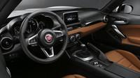 Kabina je prakticky shodná s Mazdou, Fiat 124 Spider.