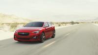 Světla mají svým tvarem evokovat jestřába, Subaru Impreza Sedan Concept.