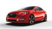 Přední část je společná pro sedan i hatchback, Subaru Impreza Sedan Concept.