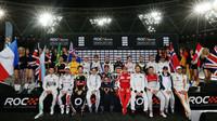 Hromadné foto jezdců na Race of champions