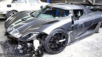 Nabouraný Koenigsegg Agera R