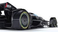 McLaren MP4-X - čidla pro pneumatiky