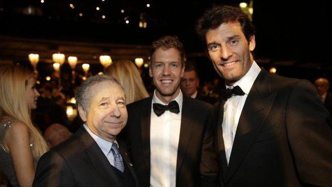 Jean Todt, Sebastian Vettel a Mark Webber. Australan i nadále rád komentuje dění v F1