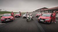 Závod mezi stroji od společnosti Honda