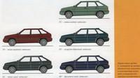 Kompletní paleta pěti metalických laků, Lada Samara Baltic.
