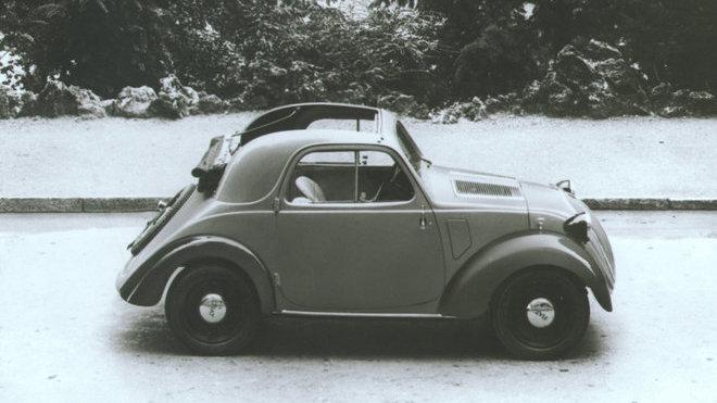 Původní Fiat Topolino, který se vyráběl téměř dvacet let