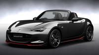 Auto se odlišuje bodykitem i červenými a černými detaily, Mazda Roadster Racing.