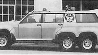 Sedadla byla hydraulicky přizvednutelná o 80 cm, Sbarro Windhawk.