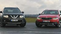Nissan X-trail a Škoda Octavia Scout