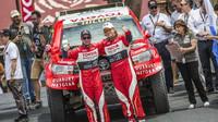 De Villiers před startem věřil, že s novou Toyotou Hilux V8 bude schopný zaútočit na vítězství.