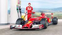 Kimi Räikkönen při reklamní akci Shellu