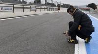 Měření teploty při testech pneumatik do deště na trati Paul Ricard