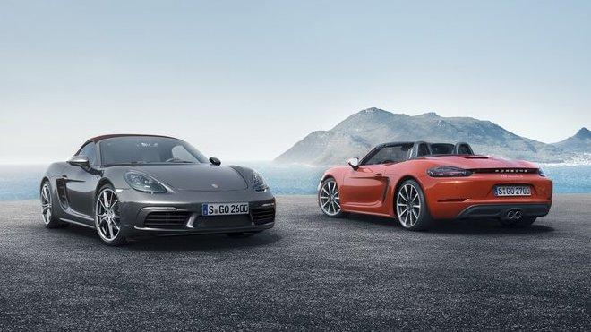Porsche 718 Boxster & 718 Boxster S mají přeplňovaný čtyřválec.